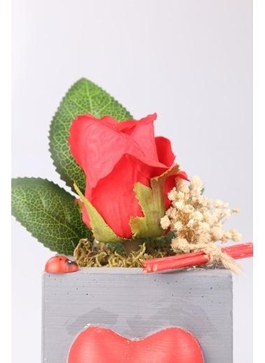 Kibrithane Çiçek Yapay Çiçek Kırmızı Gül Aranjman Kc00200729 Renkli